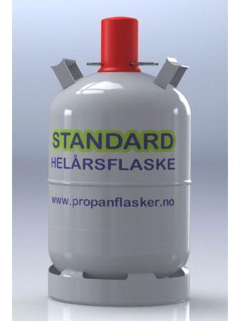 Flaske standard stål 11kg  Jumbo