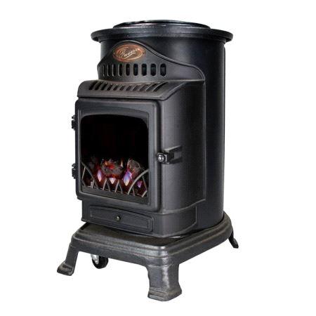 Provence gass ovn 3kw 80x46x56cm, matt svart