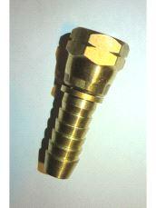 Slangestuss messing G 1/4  - 10mm